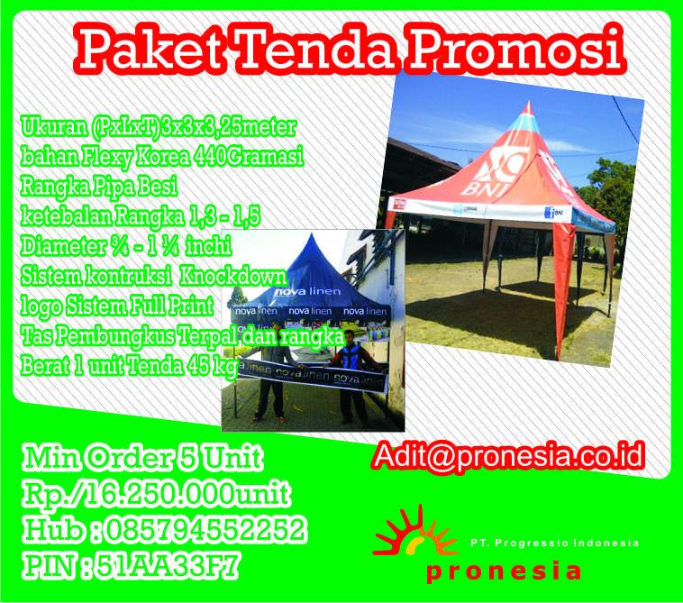 Harga tenda Promosi